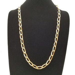 Napier Gold Hammered Link Necklace